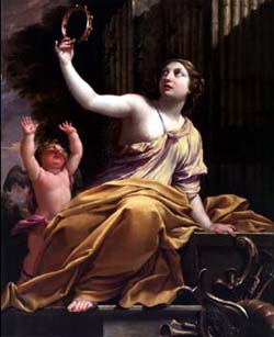 Erato, Эрато - the Muse of lyric poetry.